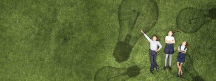 Дети в парке лета стоковые фотографии rf