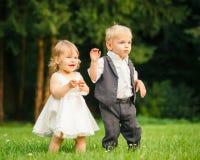 Дети в парке Стоковые Фото