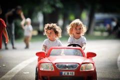 Дети в парке Стоковая Фотография
