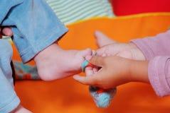 Дети в питомнике Стоковое фото RF