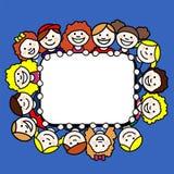 Дети в прямоугольной рамке Стоковые Фотографии RF