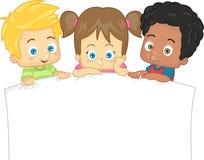 Дети в рамке Иллюстрация штока