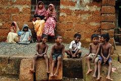 Дети в сельской Индии стоковое изображение