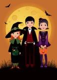 Дети в costume Halloween Стоковое Изображение