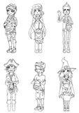 Дети в costumes на Halloween бесплатная иллюстрация