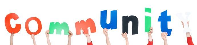 Дети держа письма алфавита Стоковые Изображения RF