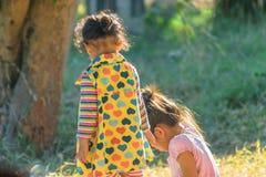 Дети играют в середине утра Стоковые Фотографии RF