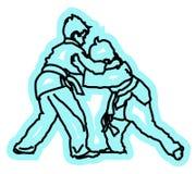 Дети играя дзюдо Стоковые Фото