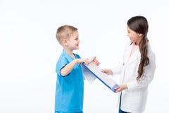 Дети играя докторов Стоковое Изображение RF