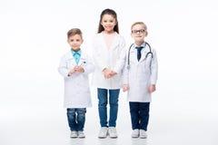 Дети играя докторов Стоковая Фотография RF