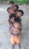дети играя село Стоковые Фото