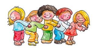 Дети играя счастливо Стоковые Фотографии RF
