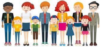 Дети и взрослое положение бесплатная иллюстрация