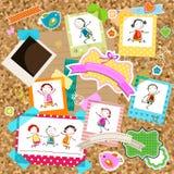 Дети и рамки фото Стоковые Изображения