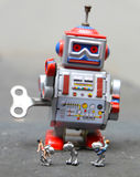 Дети и робот Стоковое Фото