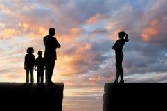 Дети и родители в разводе Стоковые Изображения