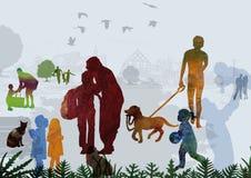 Дети и родители иллюстрация вектора