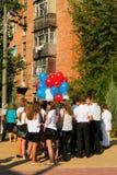 Дети идут назад к школе Стоковая Фотография