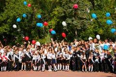 Дети идут назад к школе Стоковые Изображения