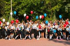 Дети идут назад к школе Стоковое Изображение