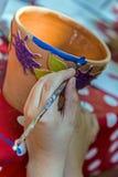 Дети крася гончарню 18 Стоковое Изображение