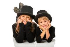 Дети метельщика печной трубы стоковые фото