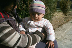 Дети мира Leh, Индии стоковая фотография