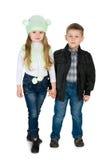 Дети моды стоят совместно Стоковое Изображение
