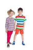Дети моды стоят совместно Стоковые Фотографии RF
