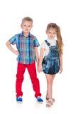 Дети моды счастливые Стоковое Изображение