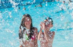 Дети на бассейне Стоковое Изображение