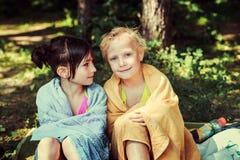 Дети на озере Стоковое Изображение