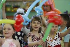 Дети на партии стоковая фотография