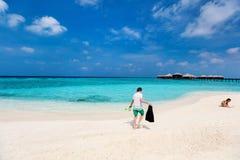 Дети на пляже Стоковое фото RF