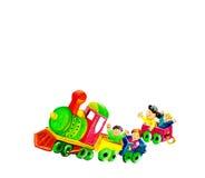 Дети на поезде Стоковая Фотография RF