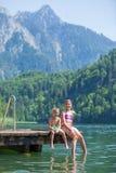 Дети на пристани Стоковые Фотографии RF