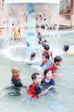 Дети на плавательном бассеине Стоковое Изображение