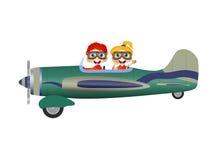 Дети на самолете Стоковые Фото