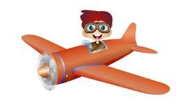 Дети на самолете Стоковое Изображение RF