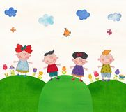 Дети на учебной экскурсии Стоковая Фотография RF