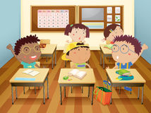 Дети на школе Стоковая Фотография