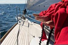 Дети на яхте Стоковые Фотографии RF