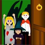Дети на Halloween Иллюстрация штока