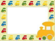 Дети обрамляют с поездами Стоковое Изображение