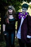 Дети одетые как злодейки DC Стоковые Изображения RF