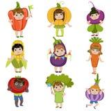 Дети одетые как овощи бесплатная иллюстрация
