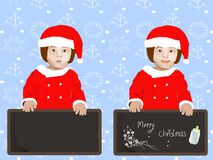 Дети одели Санта Клауса Стоковое Фото