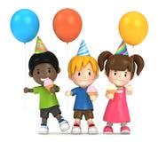 Дети партии бесплатная иллюстрация