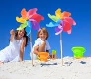дети пляжа стоковая фотография rf