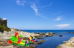 Дети поезда в лилии острова Стоковые Фото